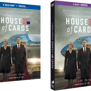 2 Blu-Ray et 1 DVD de House of Cards saison 3 àgagner