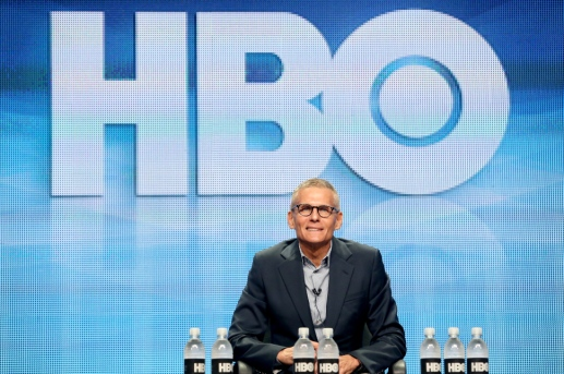 speaks onstage during the Executive Session panel discussion at the HBO portion of the 2015 Summer TCA Tour at The Beverly Hilton Hotel on July 30, 2015 in Beverly Hills, California.