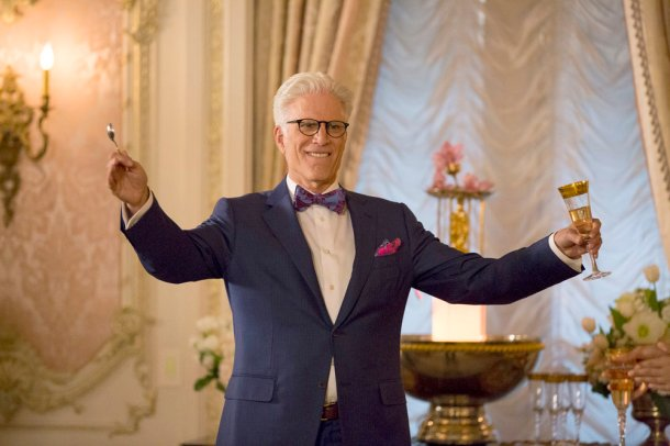 "THE GOOD PLACE -- ""Everything Is Fine"" Episode 101-- Pictured: Ted Danson as Michael -- (Photo by: Justin Lubin/NBC)"