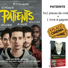 [Concours] 5×2 places de cinéma + 1 livre de «Patients» àgagner