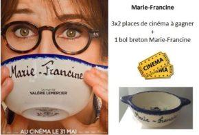 [Concours] 3×2 places de cinéma et 1 bol Marie-Francine àgagner
